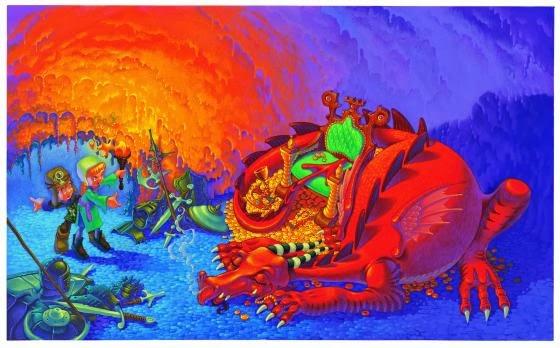 mark oliver dragon illustration